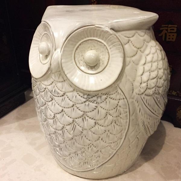 Owl Garden Stool Sum Ngai Brass