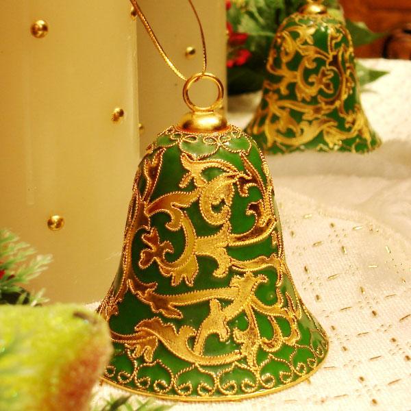 Cloisonné X'mas Bell (Flower)   Sum Ngai Brass