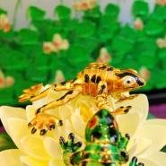 Cloisonné Hanging Fortune Frog
