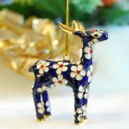 Cloisonné Hanging Rein Deer