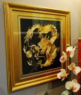 Hand Crafted Embroidery Golden Imperial Dragon