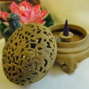 Ceramic Lotus Incense Burner