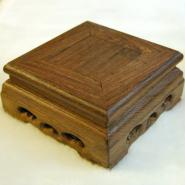 Square Wooden Stand with Openwork Design
